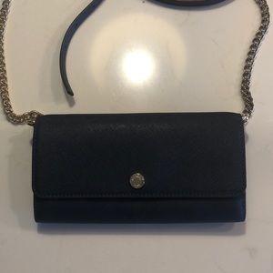 Michael Kors Chain Wallet Crossbody Navy purse